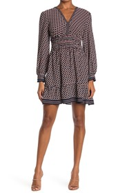 Max Studio Patterned Smocked Dress