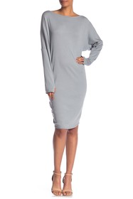 Go Couture Boatneck Thumhole Dress