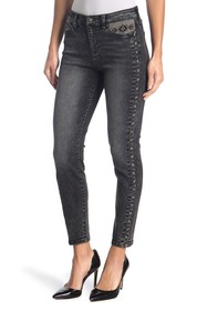 Liverpool Jeans Co Ankle Skinny Embroidered Jeans