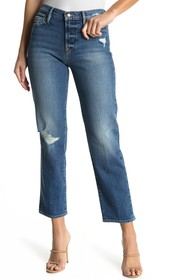 FRAME Le Nouveau Distressed Straight Leg Jeans