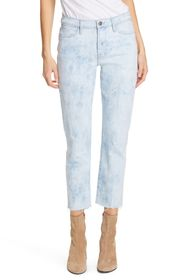 FRAME Le High Raw Hem Ankle Straight Leg Jeans