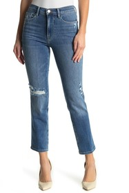 FRAME Le Sylvie Distressed Straight Leg Jeans