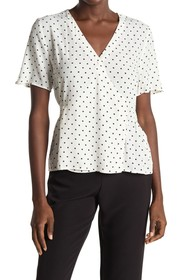 Elodie Short Sleeve Side Button Blouse