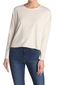 FRANK & EILEEN Solid Dolman Long Sleeve Crop T-Shi