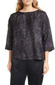 Eileen Fisher Boxy Silk Top