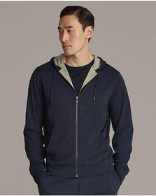 Ralph Lauren Cotton Lisle Full-Zip Hoodie