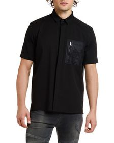 Neil Barrett Men's Nylon-Pocket Short-Sleeve Sport