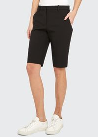 Theory Treeca Straight-Leg Shorts