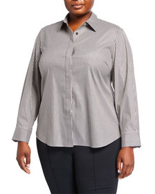 Lafayette 148 New York Plus Size Phaedra Striped B
