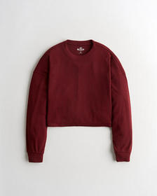 Hollister Must-Have Textured T-Shirt, BURGUNDY