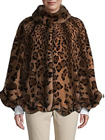 WOLFIE FURS Made For Generation Leopard-Print Dyed