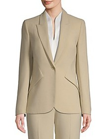 Elie Tahari Allegra Tailored Crepe Blazer