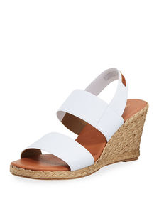 Andre Assous Allison Stretch-Strap Wedge Espadrill
