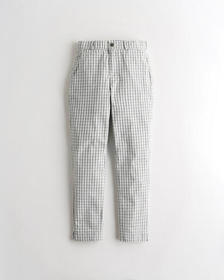 Hollister Ultra High-Rise Taper Pants, MINT PLAID