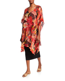 Masai Helda Sunset Print Short-Sleeve Oversized Ge