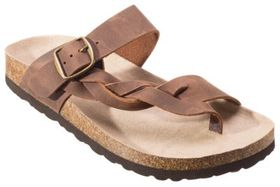 White Mountain Crawford Leather Toe Loop Sandals f