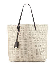 Linde Gallery Leather Medium Tote Bag Ivory