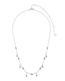 Diana M. Jewels 14k White Gold Diamond Shaker Neck