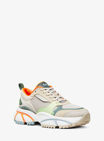 Michael Kors Ethan Mesh And Leather Trainer