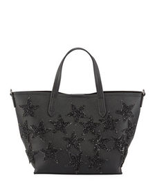 Neiman Marcus Beaded Star Mini Tote Bag