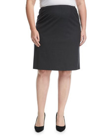 Lafayette 148 New York Plus Plus Size Wool-Stretch