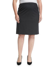Lafayette 148 New York Plus Wool-Stretch Pencil Sk