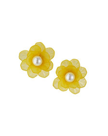 Natasha Accessories Limited Pearly Flower Stud Ear