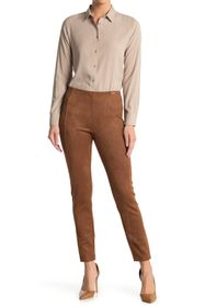 T Tahari Faux Suede Crop Pull-On Pants