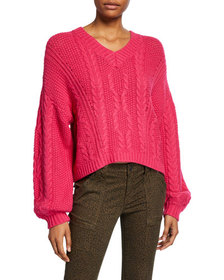 Joie Vinita Cable-Knit Sweater