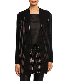 Neiman Marcus Cashmere Collection Cashmere Sequin