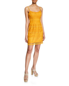 Dress The Population Gwen Spaghetti-Strap Mini Lac