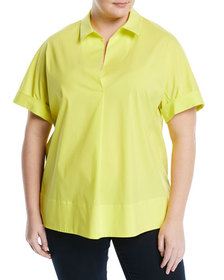 Lafayette 148 New York Plus Plus Size Damon Collar