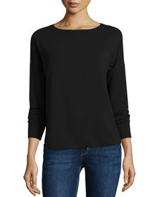Majestic Filatures French Terry Long-Sleeve Top