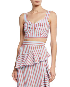 Derek Lam 10 Crosby Striped Camisole Crop Top