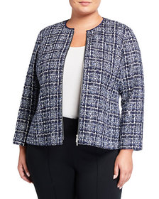 Lafayette 148 New York Plus Size Emelyn Tweed Jack