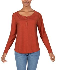 Ascend Pieced Long-Sleeve Waffle Henley for Ladies