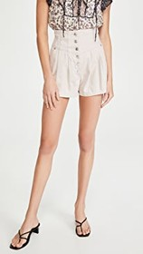 Free People Paris Pleated Shorts