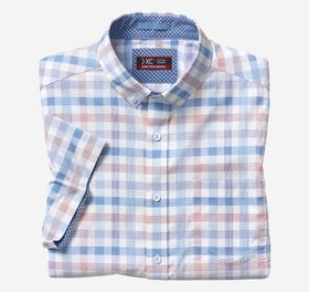 Johnston Murphy XC4 Large Gingham Short-Sleeve Str