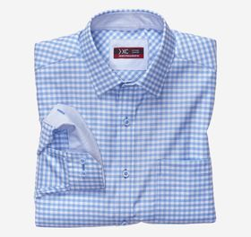 Johnston Murphy XC4 Tonal Grid Check Point-Collar