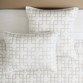 Geometric Stitched Quilted Sham