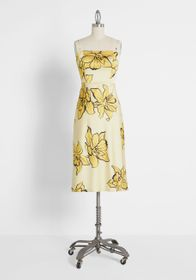 Hutch Stop and Wear the Flowers Satin Dress Champa