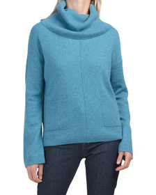 TAHARI Cashmere 2 Pocket Tunic Sweater