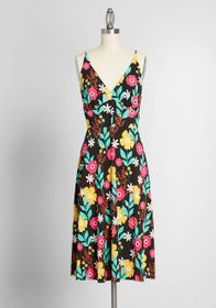 ModCloth ModCloth Seaside Vacay Slip Dress Black F