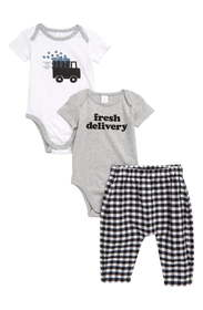 Nordstrom Baby Truck 2-Pack Graphic Rompers & Ging