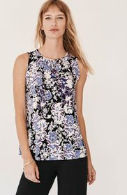 Wearever Shirred-Neckline Sleeveless Top