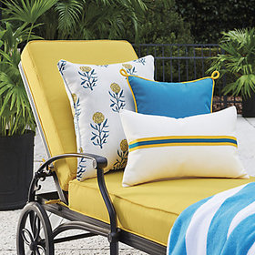 Outdoor Corded Stripe Pillow Cover
