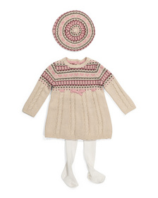 CATHERINE MALANDRINO Infant Girls Bow Sweater Dres