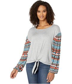 Wrangler Western Knit with Printed Sleeves
