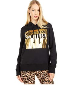 Versace Jeans Couture Hoodie with Gold Box Logo