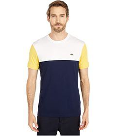 "Lacoste Short Sleeve Striped ""Color-Block"" T-Shirt"